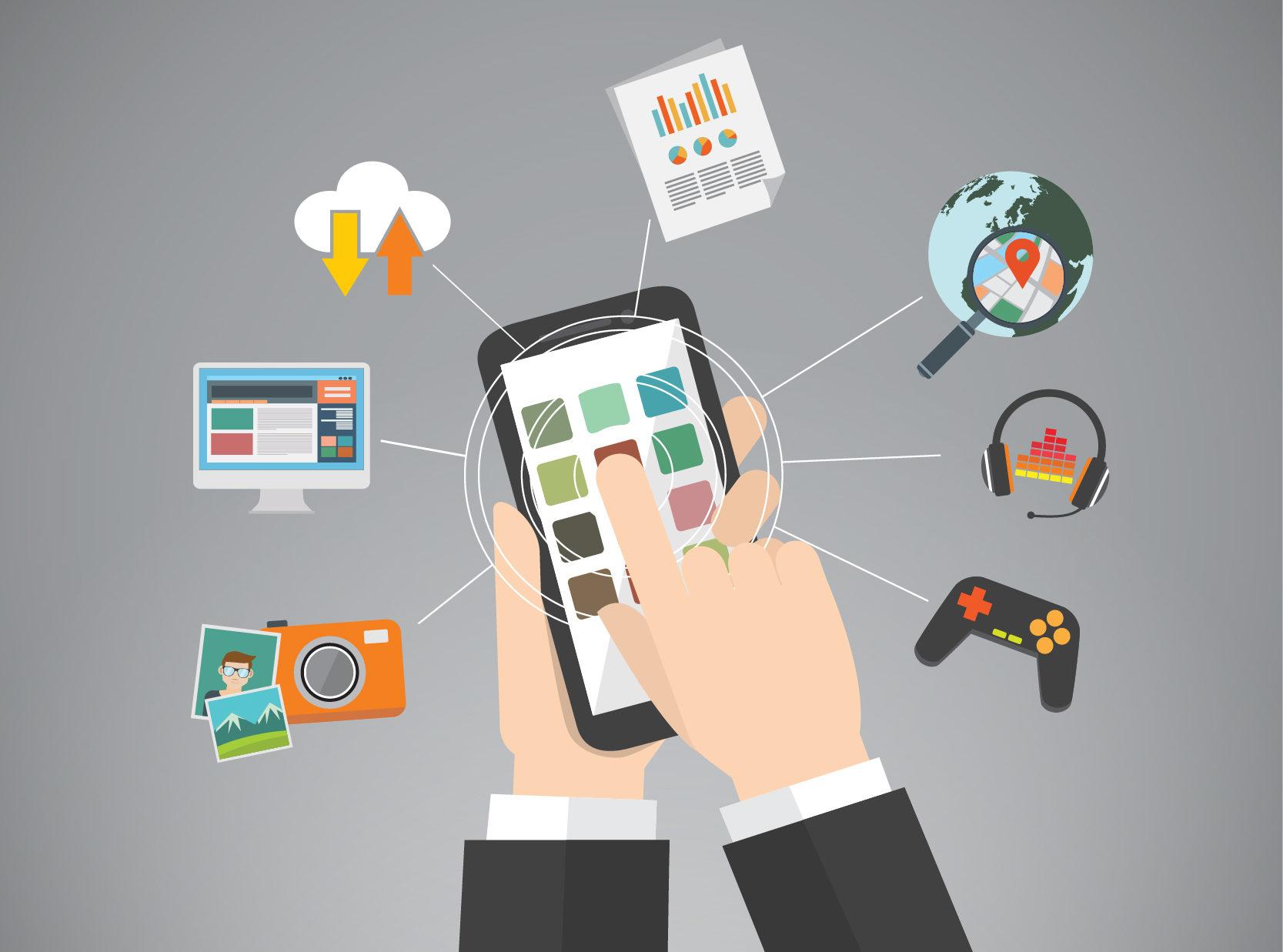 Verschiedene Arten von Apps für das Smartphone